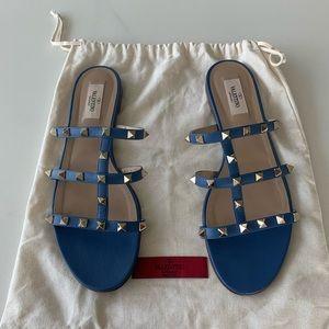 Valentino Rockstud 5mm Caged Slide Sandals EU 40